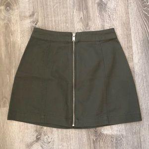 H&M front zip skirt